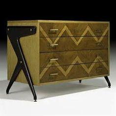 Louis Paolozzi, Inlaid Dresser, 1950s.