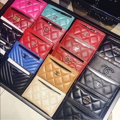 In Search Of one of these Chanel coin purses! Preferably caviar leather over lamb skin but I'm open to both!! CHANEL Bags Wallets