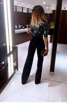 Women's fashion | Sequins and trousers.: