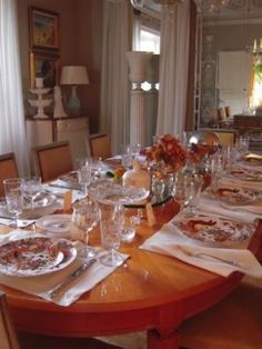 Jan Showers | Blog | WHAT'S CHIC NOW 2014 THANKSGIVING--- if a holiday can be chic, THANKSGIVING is just that for me. I love TRADITION--- using the same CHINA, same MENU and always with my FAMILY.