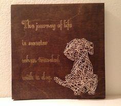 Journey of Life Dog Related String Art by HeartsOnAStringLLC, $35.00