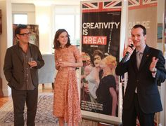 Consul-General Danny Lopez hosted a lunch at the British Residence in New York City, including actress Keira Knightley and director Joe Wright, on a US tour to promote their film Anna Karenina.