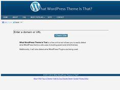 Comment connaitre le thème utilisé par un blog WordPress