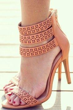 Coral Summer Heels ♥ L.O.V.E