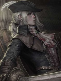 Lady Maria - Bloodborne Fan art of Lady Maria from Bloodborne, for the Patreon's Monthly Artwork of the previous month. It took me alot to recover the time lost and I had another work to finish. Finally it's here and I can start with the next. Dungeons And Dragons Characters, Dnd Characters, Fantasy Characters, Female Characters, Fantasy Women, Fantasy Rpg, Dark Fantasy, Fantasy Artwork, Fantasy Character Design