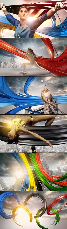sports design - 2012 Olympics coverage on Sky by Angelsign Studio , via Behance
