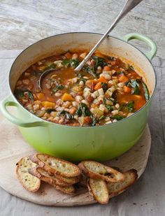 Another Ina Garten soup. Winter soup at it's best. Soup Recipes, Cooking Recipes, Healthy Recipes, Healthy Salads, Delicious Recipes, Dinner Recipes, Bruschetta Recipe, Winter Soups, Appetizers