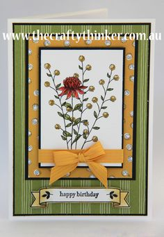 Stampin Up, The Crafty Thinker, Sale-A-Bration, Wildflower Fields