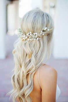 Wedding Hairstyles for Long Hair Half Up, Wedding hairstyles for long hair half up are one of the alternative choice for people who want to look distinct and unique in the wedding ceremony. Th..., Wedding Haircuts #weddinghairstylesforlonghair