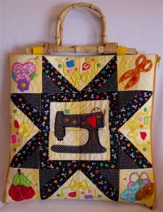Going Sewing Project Bag-I'm actually trying to find a quilting project tote. I may be able to adapt this.
