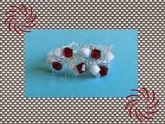 Anillo Rosal en tonos rojos y blancos
