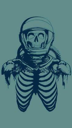 Astronaut Drawing, Gothic Wallpaper, The Ancient Magus Bride, Skeleton Art, Exotic Art, Cyberpunk Art, Skull And Bones, Skull Art, Dark Art