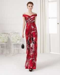 Aire Barcelona: Wedding dresses and evening gowns Mob Dresses, Gala Dresses, Formal Dresses, Red Evening Gowns, Evening Outfits, Vestidos Mob, Costume, The Dress, Pretty Outfits