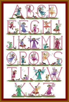 cross stitch faerie alphabet