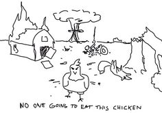 No one going to eat this chicken. I like @FAKEGRIMLOCK style. Minimum Viable Personality, ALL CAPS - http://www.avc.com/a_vc/2011/09/minimum-viable-personality.html