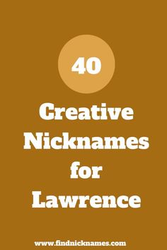 Do you need nicknames for someone named Lawrence? Go through our list to find the perfect and creative nicknames for Lawrence List Of Fictional Characters, Good Nicknames, English Rugby, Who Is The Father, Lawrence Welk, French Names, School Of Rock, People Names, Phineas And Ferb