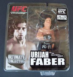 "Urijah ""The California Kid"" Faber UFC Figurine 6 Inches Round 5 AMP Energy New"