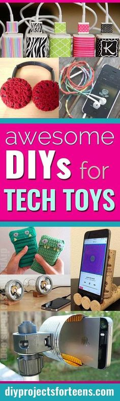 Cool DIY Ideas for Your iPhone iPad Tablets & Phones :Fun Projects for Chargers, Cases and Headphones Diy Projects For Teens, Diy For Teens, Crafts For Teens, Fun Projects, Fun Crafts, Diy And Crafts, Cool Diy, Easy Diy, Diy Sharpie