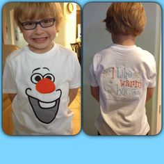 Olaf with a Big Smile from Frozen Applique by EmbellishStar, $3.00