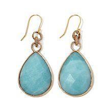 elements by NEST Amazonite Bronze Link Drop Earrings