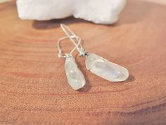 Clear Raw Electroplated Quartz Point Earrings, Healing Crystal Earrings by MysticTortoise on Etsy https://www.etsy.com/listing/494161484/clear-raw-electroplated-quartz-point