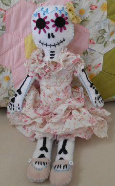 Day of the Dead Art Doll by seansmonsters on Etsy, $55.00