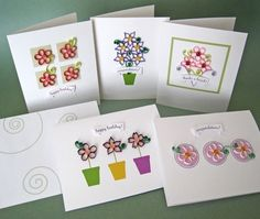 quilled flower greeting cards