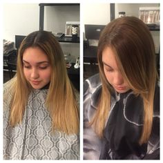 Ombre created to help client maintain her blonde without all the upkeep