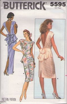 vintage 80s gown sewing pattern.. MOMSPatterns