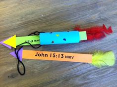 For the 5th lesson our preschoolers will be learning about how God is Protector as they hear about the life of David. 2 Samuel 22:2 is the memory verse. The 5th week your child will hear about how God protected David from Saul through his friendship with Jonathan. They will create a quiver with arrows to remind them of God's protection through Jonathan signaling David to safety as he shot 3 arrows! To see more of what your kids are doing in Tree House check out www.gracechurchkids.org