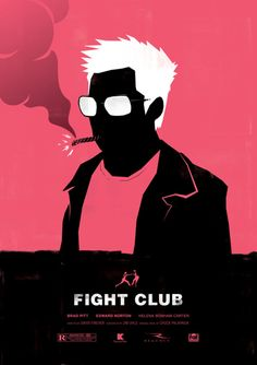 """Fight Club"" by Dee Choi.  http://minimalmovieposters.tumblr.com/tagged/fight-club"