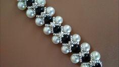 Necklace or bracelet. Necklace or bracelet. Beaded Bracelet Patterns, Woven Bracelets, Diamond Bracelets, Bracelet Designs, Handmade Bracelets, Beaded Wedding Jewelry, Diy Collier, Bracelet Crafts, Bead Jewellery