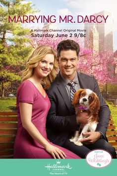 Marrying Mr. Darcy - Ryan Paevey (Darcy) and Cindy Busby (Elizabeth) and romance return in the sequel you've been waiting for on June 2nd on Hallmark Channel. #MarryingMrDarcy #HallmarkChannel #JuneWeddings