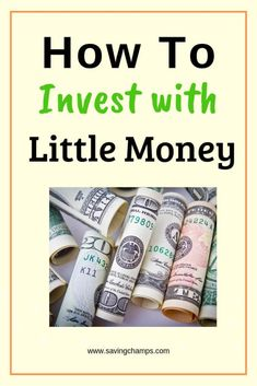 How to Invest with Little Money: 5 Ways to Grow your Wealth Planning Budget, Budget Planner, Financial Planning, Retirement Planning, Money Tips, Money Saving Tips, Saving Ideas, Managing Money, Money Budget