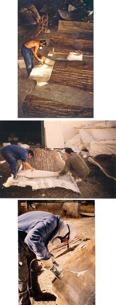 Lami Gérard - 1999-Luxeuil les Bains 70-Ex-voto Monumental h:8m (Moulage, démoulage et ébarbage des pièces en résine de polyester)