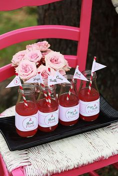 luv the printables :) Breast Cancer Awareness Party - Kara's Party Ideas