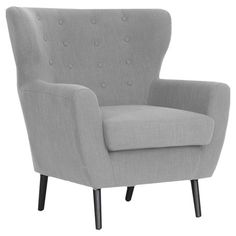 A perfect addition to your living room or master suite, this charming arm chair showcases button tufting and a midcentury-inspired silhouette. ...