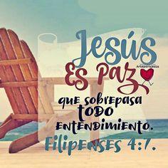 Filipenses 4:7 Y la paz de Dios, que sobrepasa todo entendimiento, guardará vuestros corazones y vuestros pensamientos en Cristo Jesús. Juan 14:27 La paz os dejo, mi paz os doy; yo no os la doy como el mundo la da. No se turbe vuestro corazón, ni tenga miedo.♔