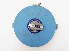 Vintage Rabone Chesterman Fibron 100Ft Tape Measure by PopBam #vintagetools #industrial