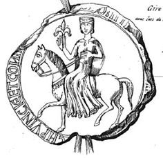 The seal of Sanchia of Provence, wife of Richard Plantagent, Earl of Cornwall, brother of Henry III of England. (Sanchia's sister Eleanor was Henry III's wife.) They became King and Queen of the Romans in Ancestor Cornwall, Medieval, French Royalty, European History, French History, Plantagenet, Anglo Saxon, Kaiser, Historical Pictures
