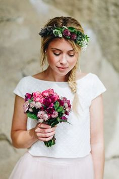 wedding hairstyles with crown noni noni Brautkleider 2018 Mon Cheri Wedding Dresses, Wedding Dresses 2018, Bridal Dresses, Flower Girl Dresses, White Wedding Flowers, Bridal Flowers, Crown Hairstyles, Wedding Hairstyles, Artificial Bridal Bouquets