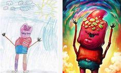 The Monster Project é um projeto no qual artistas do mundo todo recriam desenhos de crianças, preservando seus traços e características. A ideia é fazer com que as crianças possam reconhecer o poder de suas imaginações, bem como encorajá-los a buscar e explorar seu total potencial criativo. Muito legal! =D■ Imperdível:Artista transforma desenhos de criança em incríveis bonecos de panoConfira:| via