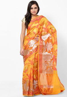 Bunkar Faux Silk Fancy Banarasi Gold Saree