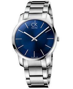 ck Calvin Klein Watch, Men's Swiss City Stainless Steel Bracelet 43mm K2G2114N - Men's Watches - Jewelry & Watches - Macy's