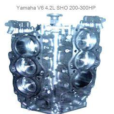 2002-2005 YAMAHA 4 STROKE OUTBOARD POWERHEADS 200-225  SHORT BLOCK