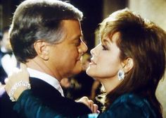 J.R. and Sue Ellen Ewing - Larry Hagman and Linda Gray - The look says it all!