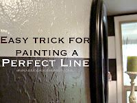painting a perfect line with no paint bleeds.