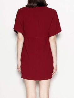 Vestido crepe escote V #VES.3014.690