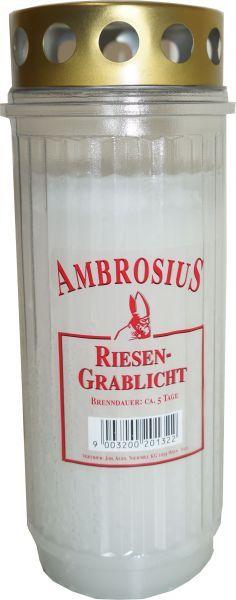 Ambrosius Riesengrablicht ca.5 Tage Gerippt Weiss
