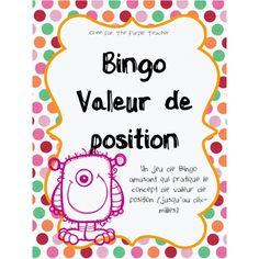 Bingo Valeur de position (dizaines de mille)